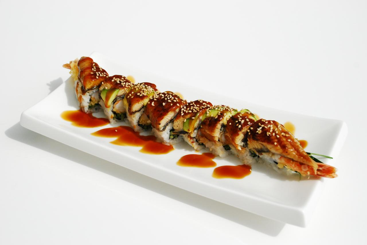 Dragon Roll Sushi sushi moto - red wing roll d-19 roll green wave ...